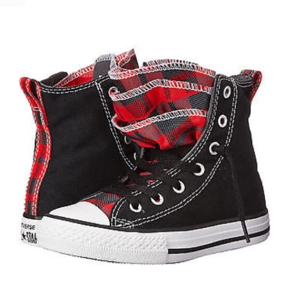 24826cae68a1 Converse Other - Converse Chuck Taylor Party Plaid Hi Tops